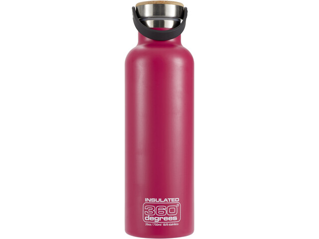 360° degrees Vacuum Insulated Bidon 750ml, pink